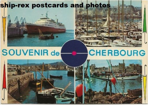 VIKING I (Thoresen Car Ferries) on Cherbourg postcard